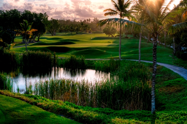 Barcelo The Lakes golfbanen i Punta Cana
